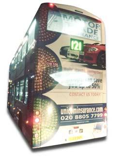 London bus with Unicom advertisement