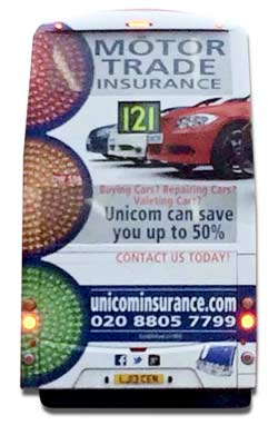 Unicom London Bus advert