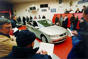 Car sales at auction