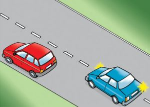 car overtaking
