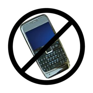 cell phones banned