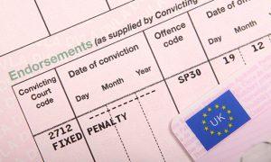 Points on UK License