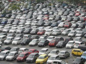 Car lots full