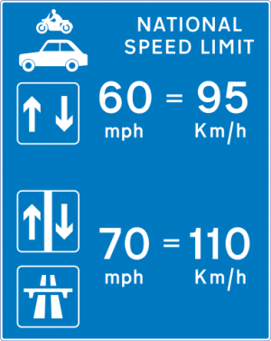 UK motorway speed limits
