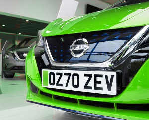 New green '70' number plates for the UK