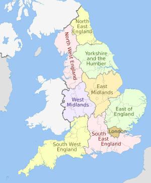 UK Regions for EV uptake