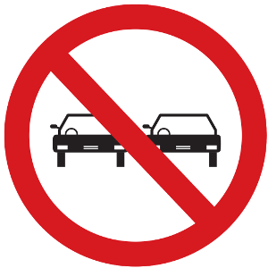overtaking sign